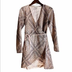 LAYERED WITH LOVE*Sequined Nude Dress***Small $295